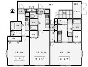 フローラルヒルズ 302号室【Bタイプ】