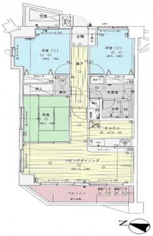 ガーデンハイツ松本 305号室 ペット可。