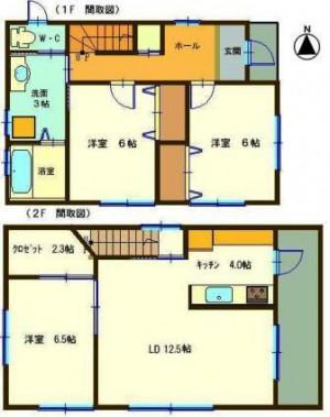 服部邸貸家 *2階がリビングルーム・日当最高*